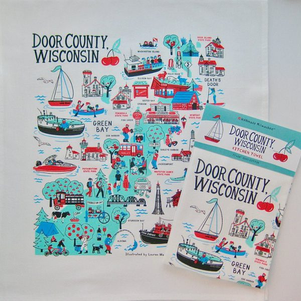 Door County Wisconsin Kitchen Towel