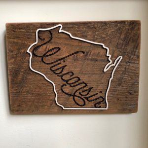 Wisconsin Barn Wood Plaque