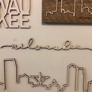 Milwaukee Floating Wood Script