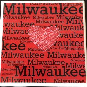 Red Milwaukee Heart Coaster
