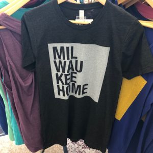 Milwaukee Home T-Shirt – White on Charcoal