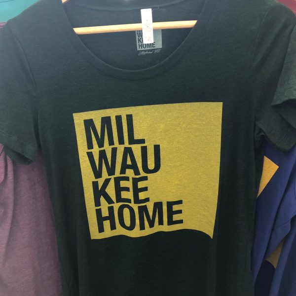 Milwaukee Home T-Shirt – Yellow on Green