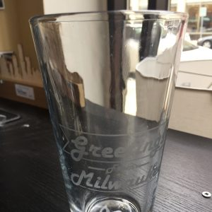 Greetings From Milwaukee Pint Glass