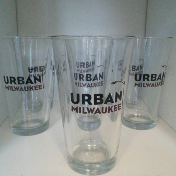 Urban Milwaukee Pint Glass