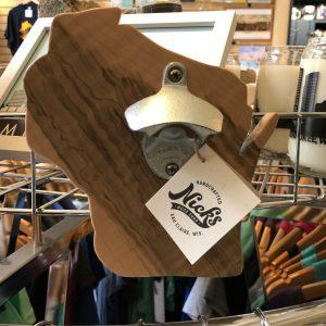 Wisconsin Wood Bottle Opener