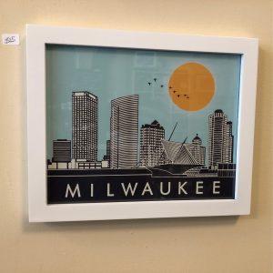 Milwaukee Skyline Framed Print