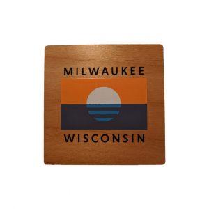 People's Flag of Milwaukee Coaster