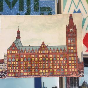 Milwaukee City Hall Postcard – John O'Neil Drawing