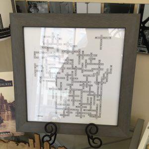 Wisconsin Scrabble Framed Print