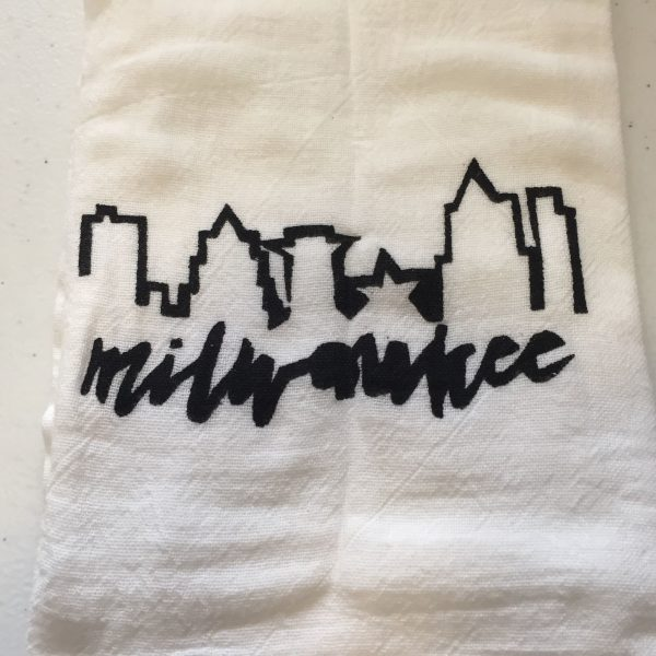Milwaukee Black Skyline Towel