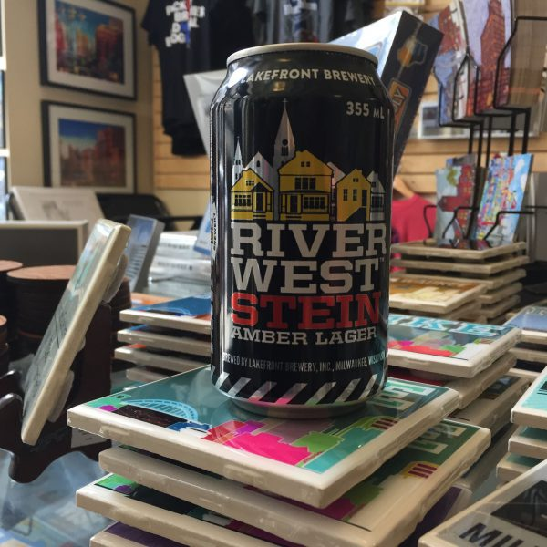 Lakefront Brewing Riverwest Stein Can Candle