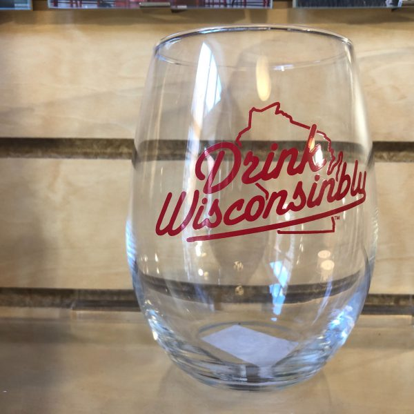 Drink Wisconsinbly Stemless Wine Glass