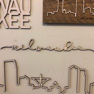 Milwaukee Floating Wood Script