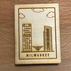 Milwaukee Postage Stamp Magnet