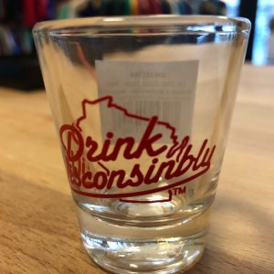 Drink Wisconsinbly Red Shot Glass