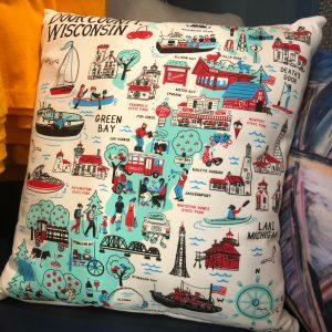 Door County Wisconsin Pillow