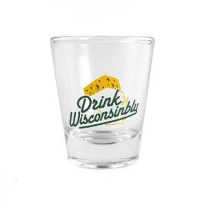 Drink Wisconsinbly Cheddarhead Shot Glass
