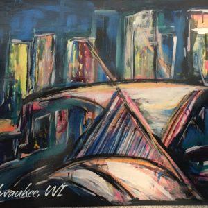 Milwaukee Art Museum Postcard – Natalja Yatsuka Painting Print