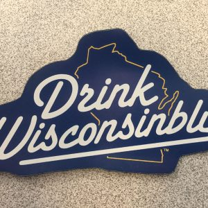 Drink Wisconsinbly Blue Magnet