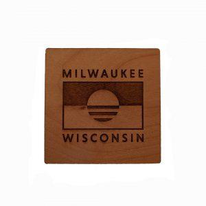 People's Flag of Milwaukee Engraved Coaster