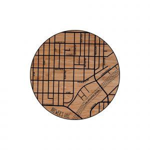 Brewers Hill Neighborhood Map Coaster
