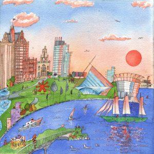 Milwaukee Sunset Dreamer Postcard