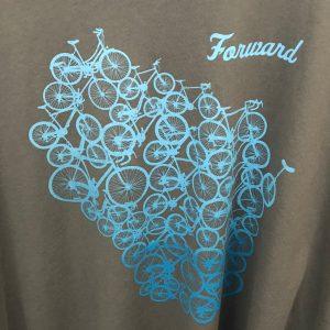Forward Wisconsin T-Shirt – Light Blue on Gray