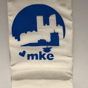 MKE Blue Skyline Tea Towel