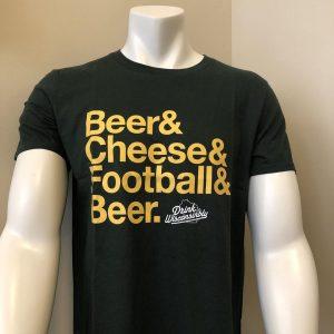 Beer, Cheese, Football & Beer T-Shirt