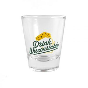 Drink Wisconsinbly Cheddarhead Shot Glass