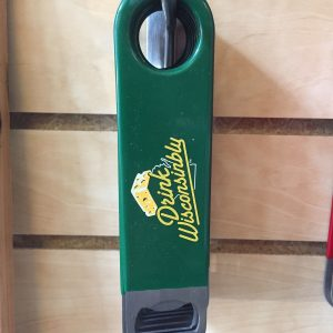 Drink Wisconsinbly Bottle Opener Cheddar Green